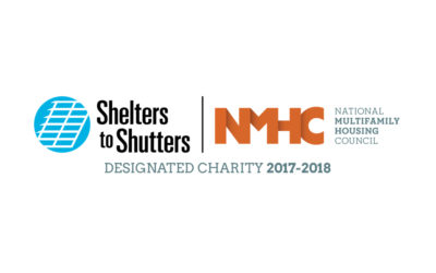 Shelters to Shutters Selected as NMHC 2018 Beneficiary Charity